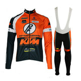 KTM Winter Thermal fleece cycling jersey set