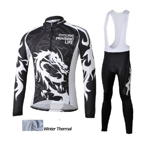 A22 Winter thermal fleece cycling jersey/bibs set