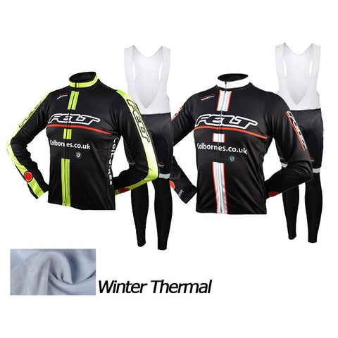 2016 A15 Winter thermal fleece 2016 cycling jersey+bibs long sleeve set