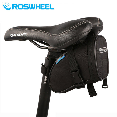 ROSWHEEL Bicycle Saddle Seat Basket Bag Fixed Gear Cycling Bike Rear Tail Tools Pouch Bag
