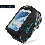 Rockbros Bike Bag Touchscreen For 4.8' 6.0' Phone Bicycle Accessories Outdoor MTB Mountain Road Cycling Bag With Rainproof Cover