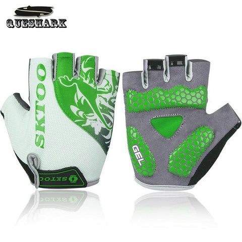 Cycling Non-slip Silicone GEL Mountain Bike Gloves Bicycle Half Finger Men Cycling Gloves