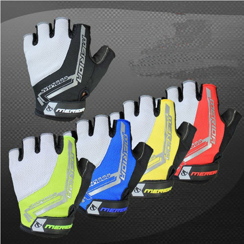 New Cycling Bike Bicycle Ultra-breathable Shockproof Half Finger Glove 5 color Size S,M,L,XL