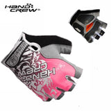 Pink New Women Cycling Bike Bicycle 3D GEL Shockproof Half Finger Glove Size S/M