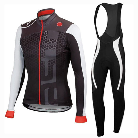 2016 A14 Winter Thermal Fleece Cycling jersey long sleeve