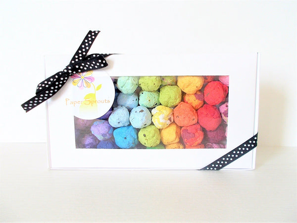 Rainbow Colored Seed Bomb Boxed Set.