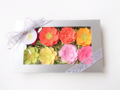 Plantable Seed Paper Flower Set - Warm Colors