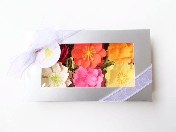 Seeded Paper Flower Set of 6 - Warm Colors