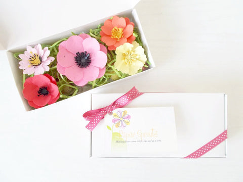 Plantable Seed Paper Flower and Seed Bomb Set