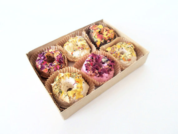 Wildflower and Herb Mini Seed Bomb Donuts Set of 6