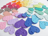 200 Large Plantable Paper Hearts - Eco Friendly Wedding, Shower and Party Decoration - Your Choice of Colors