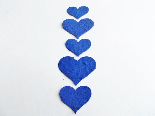 Royal Blue Plantable Paper Heart Confetti