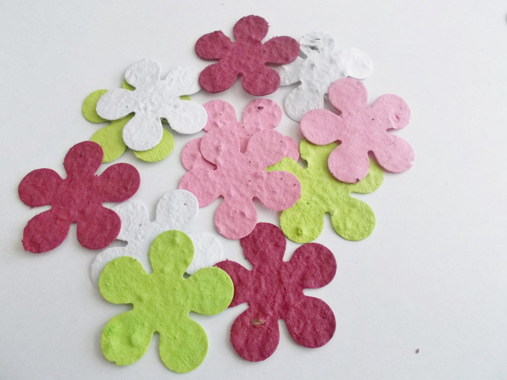 Plantable Paper Memorial Flowers Made From Paper Embedded With Flower Seeds