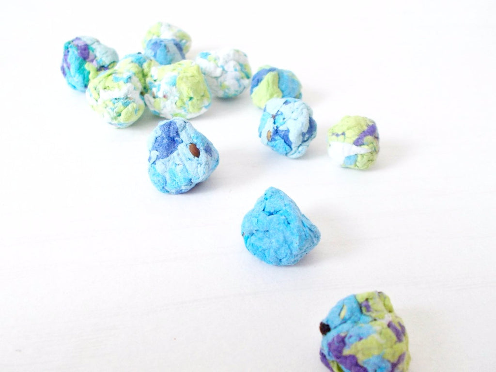 Wildflower Seed Bombs -Blues, Greens and Whites