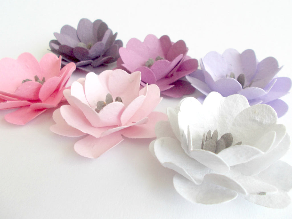 Plantable Paper Flowers - Set of 50 Anemones - Made With Seeded  Paper Embedded With Wildflower Seeds