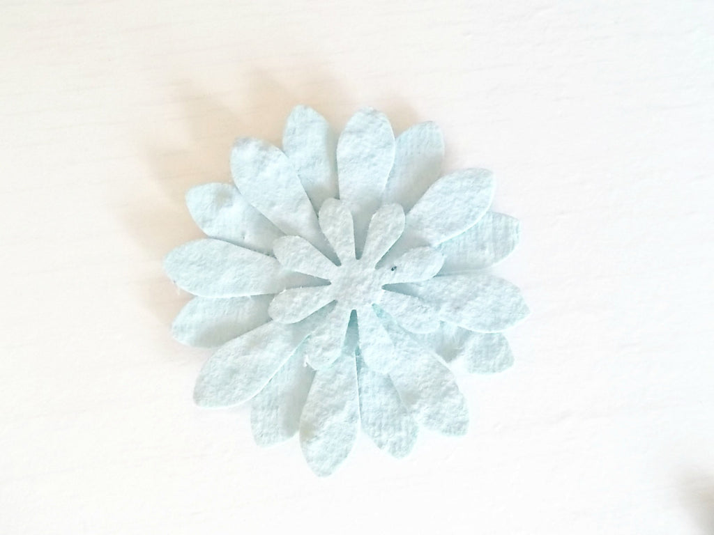Pale Blue Wedding Favors, Garden Party Flowers, Set of 12, Eco Friendly Paper Embedded With Wildflower Seeds