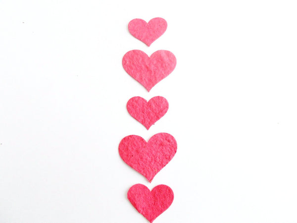 Cardinal Red Plantable Paper Hearts
