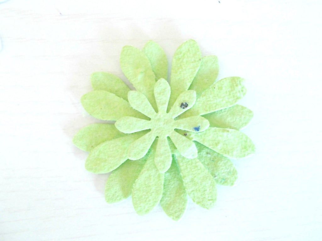 Lime Green Garden Party Flower Favors, Set of 12, Eco Friendly Paper Embedded With Wildflower Seeds