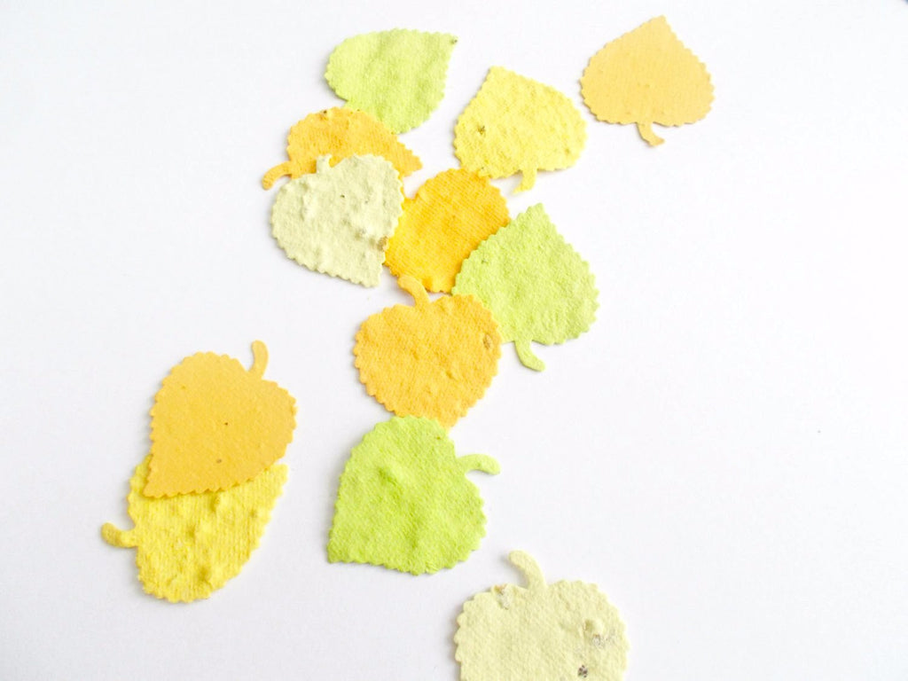 Aspen Leaf Wedding Confetti Made From Wildflower Seeded Paper