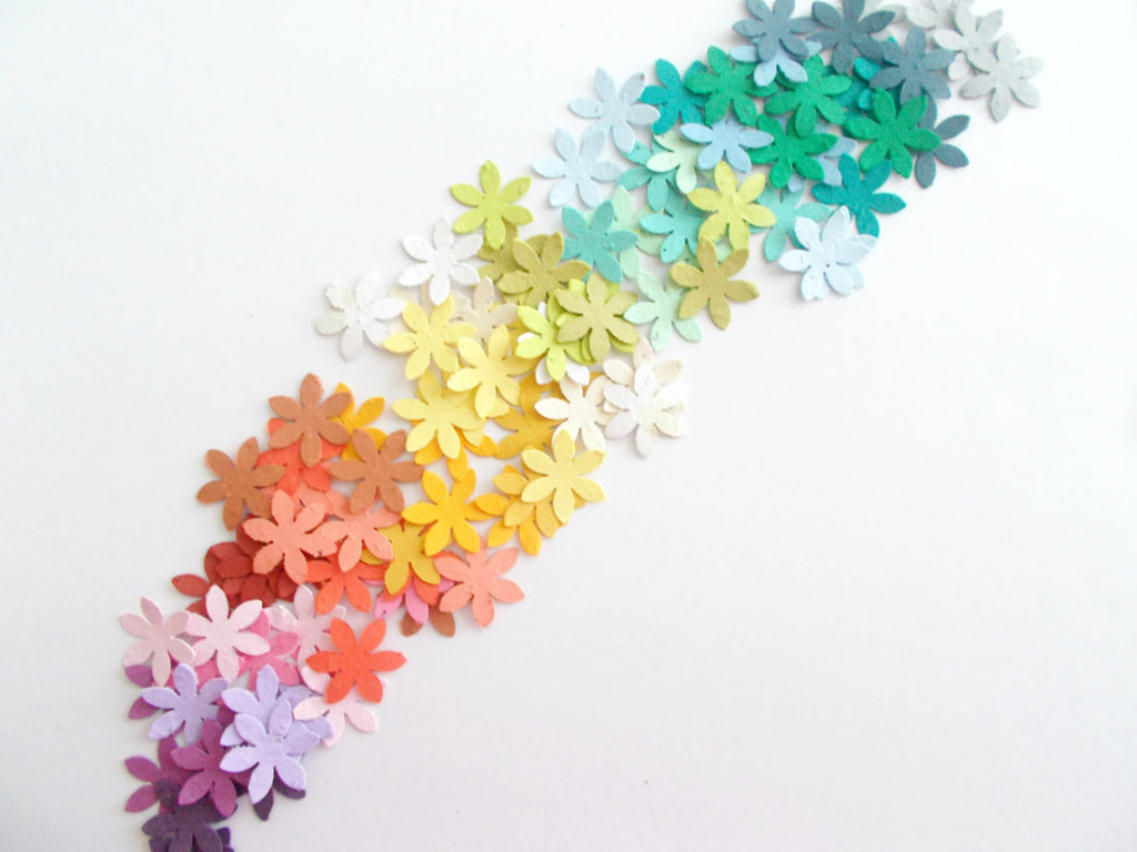 Plantable Paper Flower Confetti - Eco Friendly Plantable Paper Wedding, Shower and Party Decoration - Your Choice of Colors