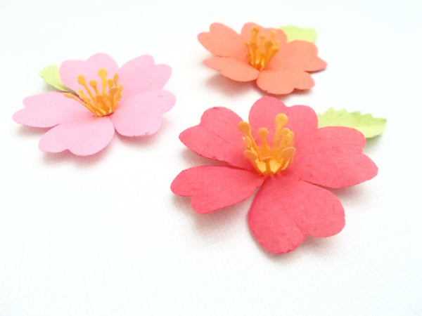 Seeded Paper Tropical Hibiscus Flowers