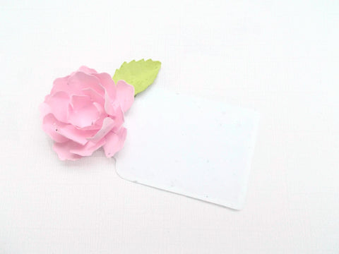 Small Peony Flower Escort Cards Made With Plantable Seed Paper