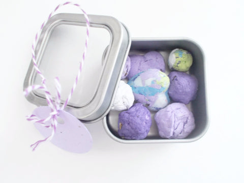 Mini Gardening Tins Filled With Seed Bombs - Gardening Lover or Hostess Gifts
