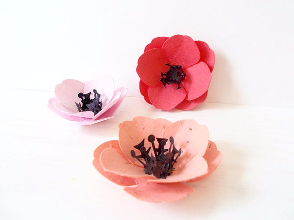Plantable Seed Paper Poppies Embedded With Flower Seeds - 100 Plant and Grow!