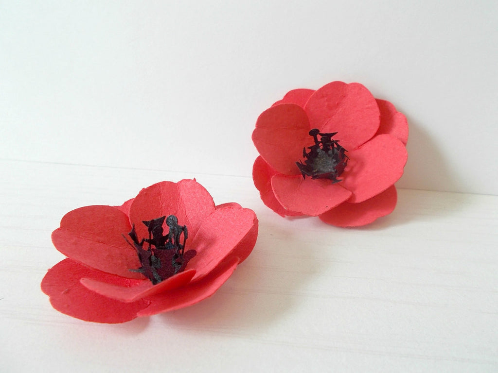 Seeded Paper Red Oriental Poppies -  Plantable Paper Embedded With Flower Seeds - Plant and Grow Eco Friendly Favors!