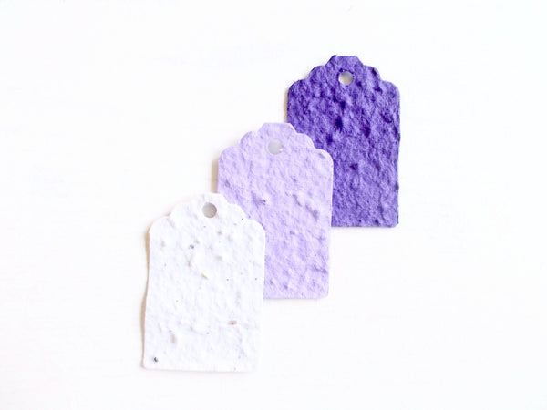 Purple Ombre Seeded Paper Gift Tags - Set of 12