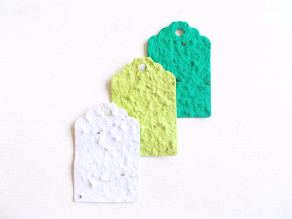 Wildflower Seed Paper Gift Tags - Green Ombre Set of 12