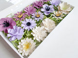 Purple Seeded Paper Flowers Gift Set