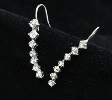 Seven CZ Beautiful Ear Row Style Earrings