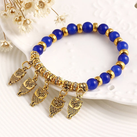 Good Luck Owl Bracelet Charm Beads Bracelets