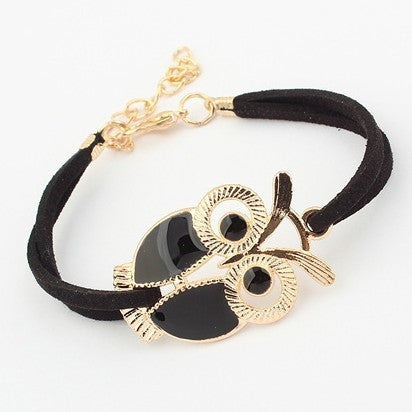 owl bracelets Vintage in Black