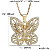 Butterfly Charm Pendant Necklace Crystal Jewelry