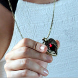 Wing Heart Vintage Pendant Necklace