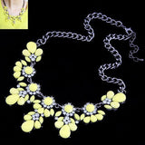 Crystal & Gem Necklace Sweet Flower Chain