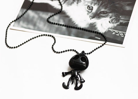 UFO Alien Skull Head Chain Necklace with Big Eyes