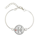 Cure For Autism Is Unconditional Love Charm Bracelet Silver Bangle