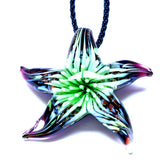 Beautiful Glass Flower Inside Starfish Pendants & Necklace