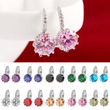 Geometry Crystal Earrings Cubic Zirconia Earrings