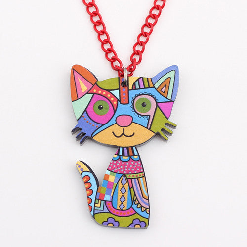 unique design happy cat necklaces & pendant