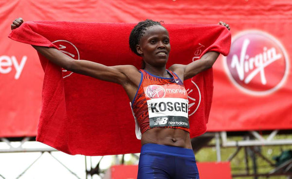 Kenya's Brigid Kosgei improved on last year's second place to win her first London Marathon title on Sunday (Getty)