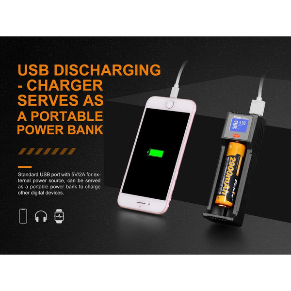 Fenix ARE-D1 Single Channel Smart Battery Charger-Battery Charger-Fenix-Malaysia-Singapore-Australia-Hong Kong-Philippines-Indonesia-Bigbigplace.com