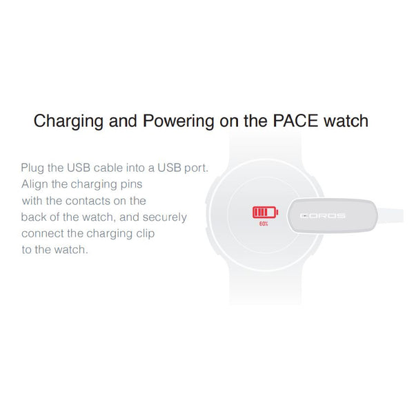 COROS Pace M1 Sport Watch USB Charging Cable Black-Coros Accessories-Coros-Malaysia-Singapore-Australia-Hong Kong-Philippines-Indonesia-Bigbigplace.com