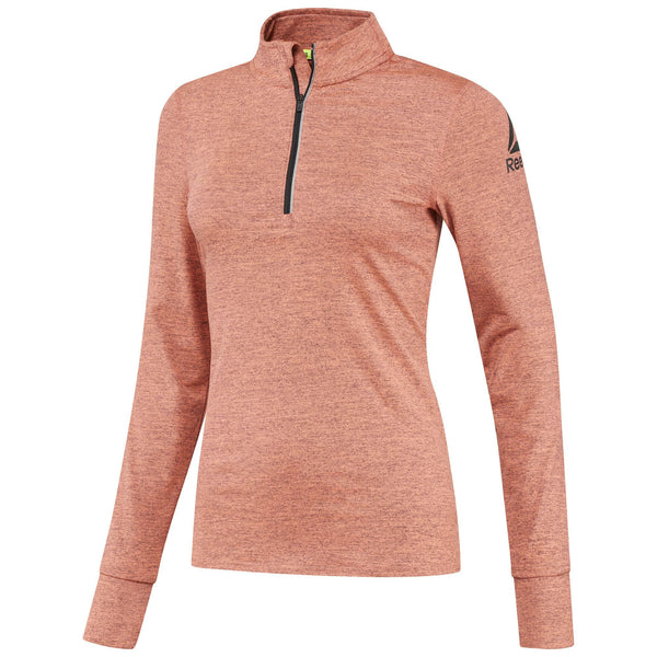Reebok Women's 1/4 Zip Pullover (Guava Punch)-Bigbigplace.com-Malaysia-Singapore-Australia-Hong Kong-Philippines-Indonesia-Bigbigplace.com