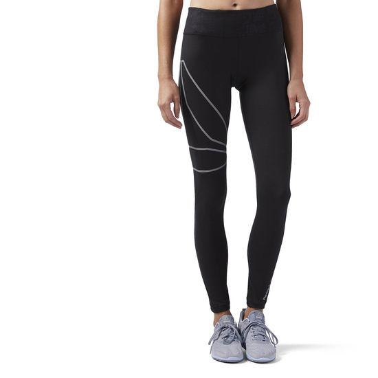Reebok Women's Long Tight (Black)-Reebok Linear High Rise Tight-Bigbigplace.com-Malaysia-Singapore-Australia-Hong Kong-Philippines-Indonesia-Bigbigplace.com