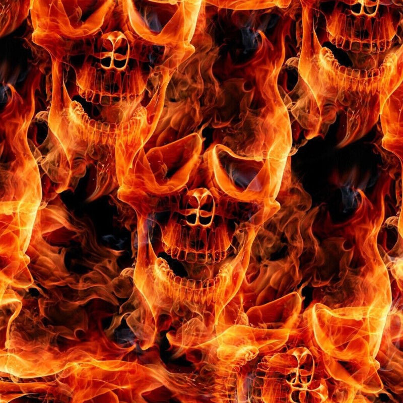 flaming fire skulls hydrographic film supplies