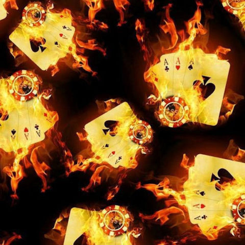 Flames fire skulls hydrographic film supplies aces on fireflaming aces voltagebd Images